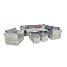 Обеденный комплект Moniz Dining Plus White grey