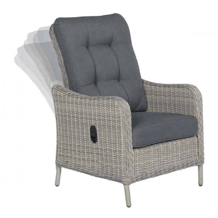 Кресло реклайнер Malta White Grey