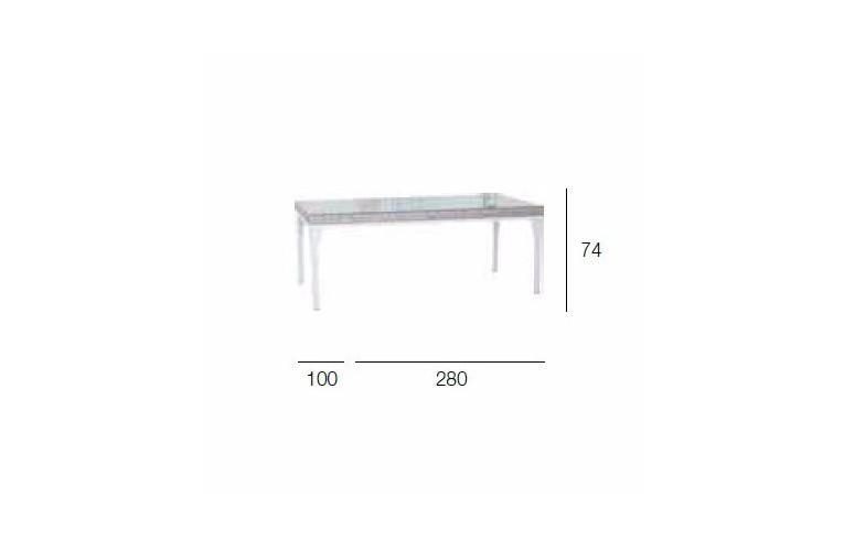 Стол Brafta 280x100 см