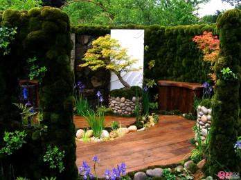 Ландшафтный дизайн внутреннего дворика в японском стиле